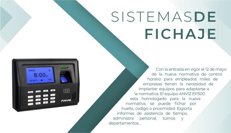 Sistema de fichaje Anviz EP300