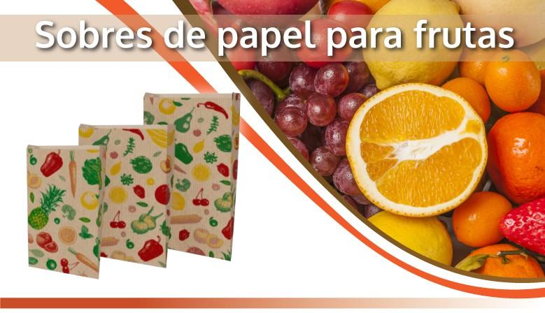 sobres de papel para frutas